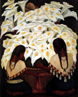 Vendedoras de alcatraces by Diego Rivera