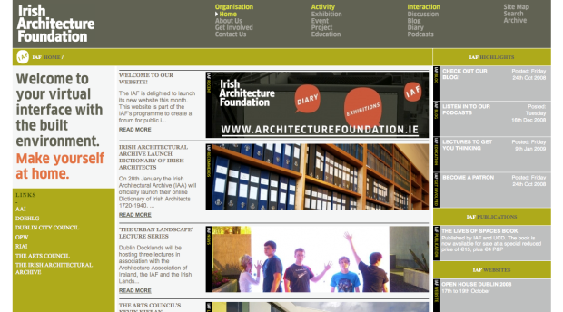 Irish Architecture Foundation website